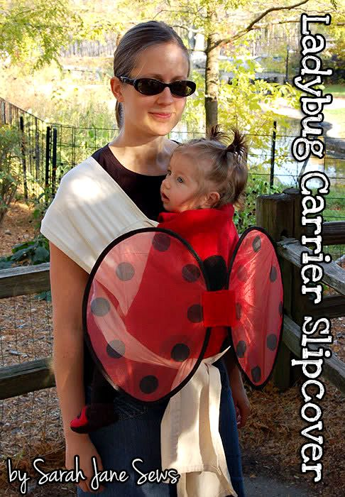 Handmade Costumes: DIY Ladybug Baby Carrier Slipcover Tutorial - Andrea's Notebook This would work with our ergobaby!