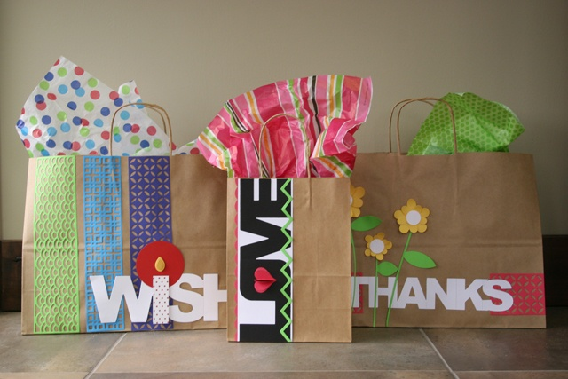 embellish gift bags!!