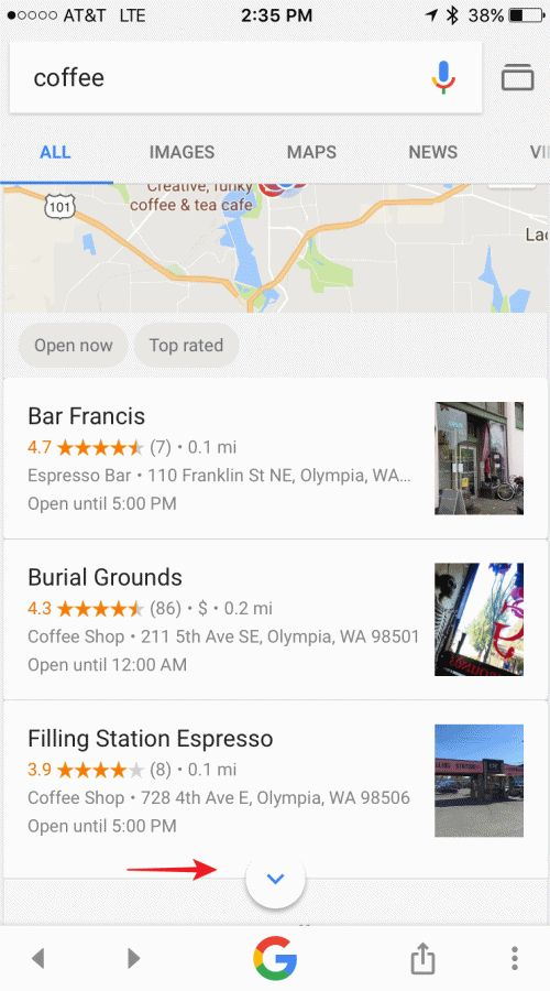Google Testing New Mobile Local Finder