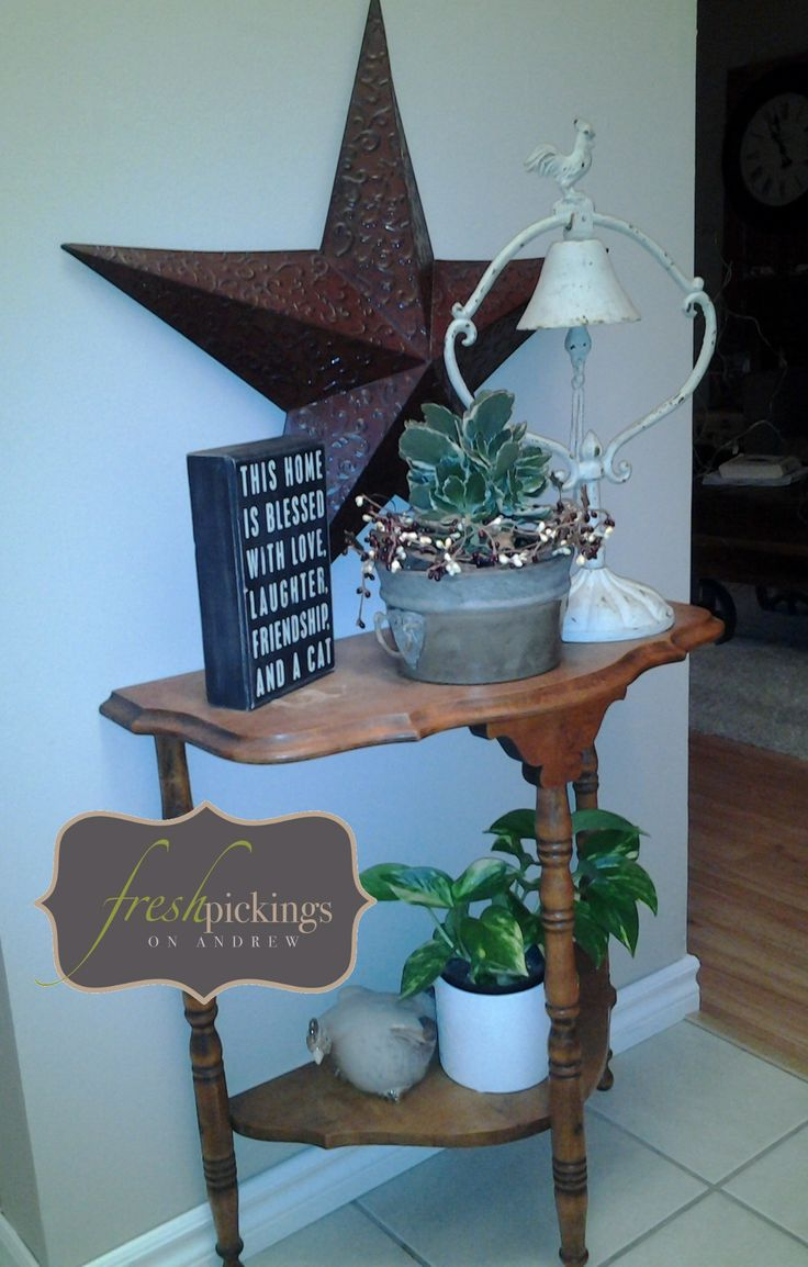 Fresh picked half moon Table...styled by Vicki S!