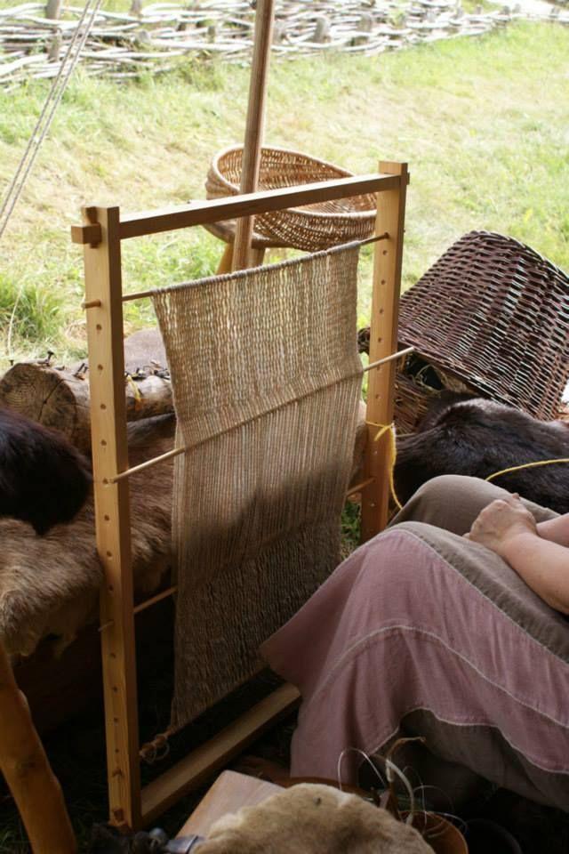 Renate Greiner's loom at Ribe Viking Center