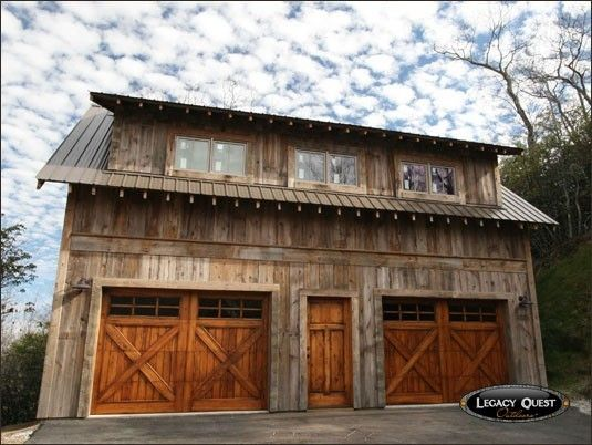 Rustic Modern Barn Garage #dreamgarage #mancave #homeformyhoseltonvehicle