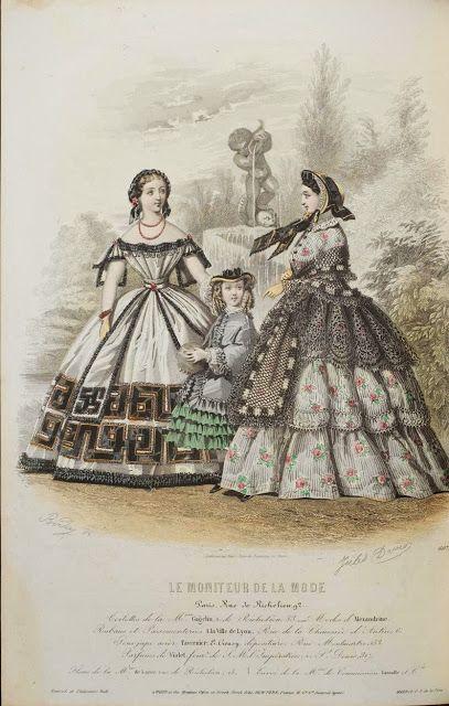 In the Swan's Shadow: Le Moniteur de la Mode, 1860  Civil War Era Fashion Plate