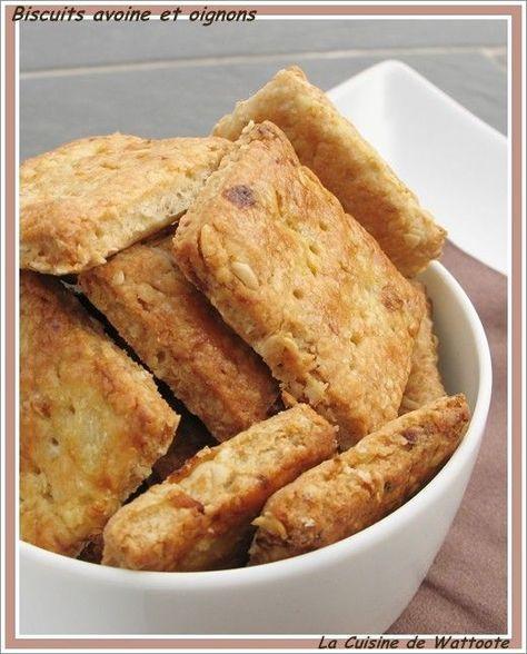 Biscuits apéro à l'avoine et aux oignons