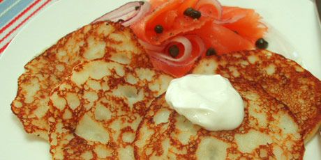 Leftover Mashed Potato Pancakes with Cured Salmon Recipes | Food Network Canada