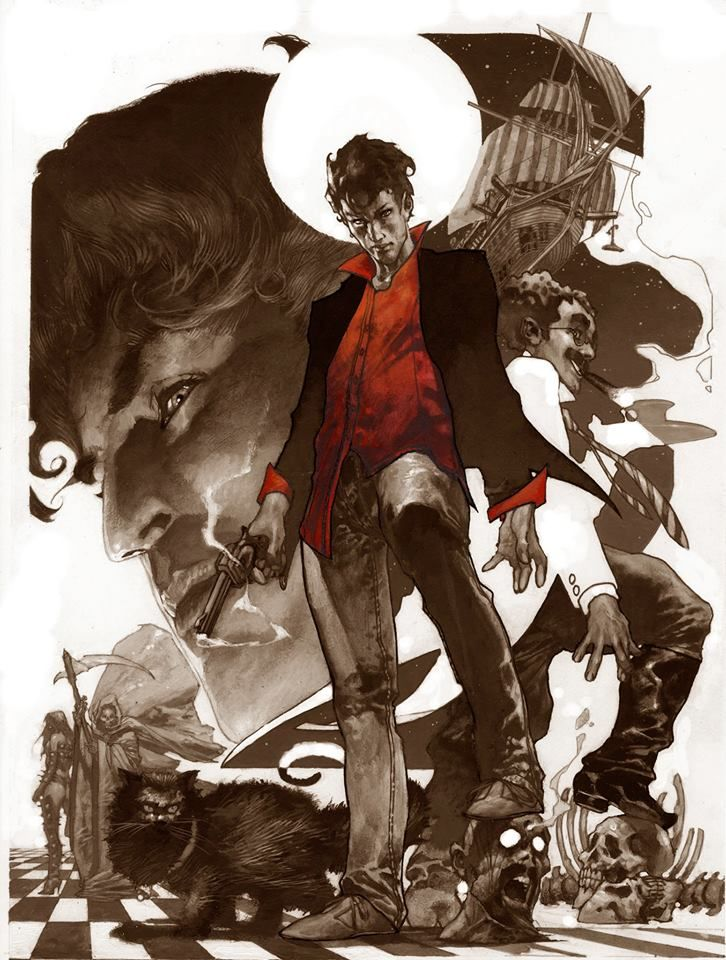 Dylan Dog and Nathan Never by Simone Bianchi *