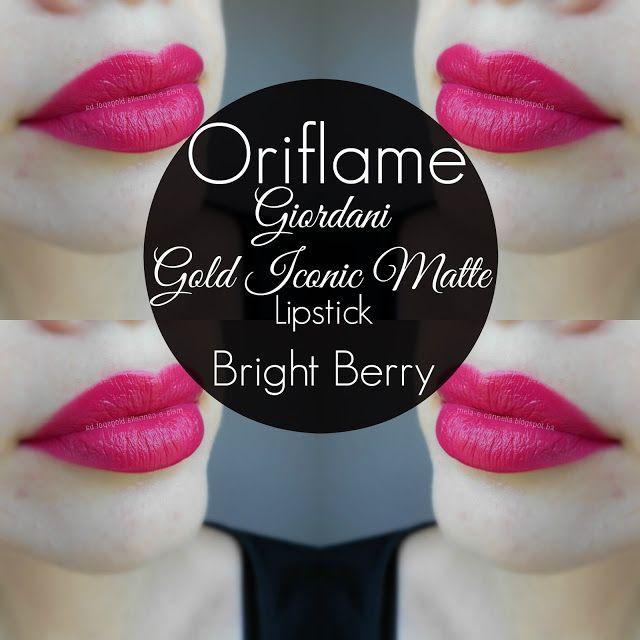 Oriflame - Giordani Gold Iconic Matte Lipstick - Bright Berry matte Oriflame ruž