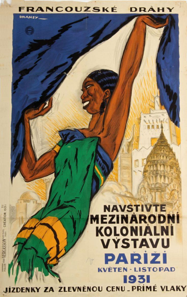 Plakát Francouzské dráhy | 3. Aukce: Poklady, výtvarné umění a starožitnosti | Sálové aukce | Starožitnosti - Galerie USTAR