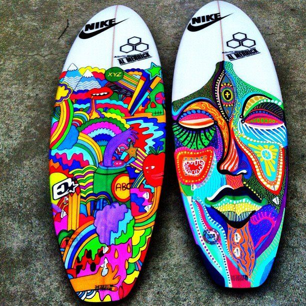 Nike boards for Africa. Art by Mama.