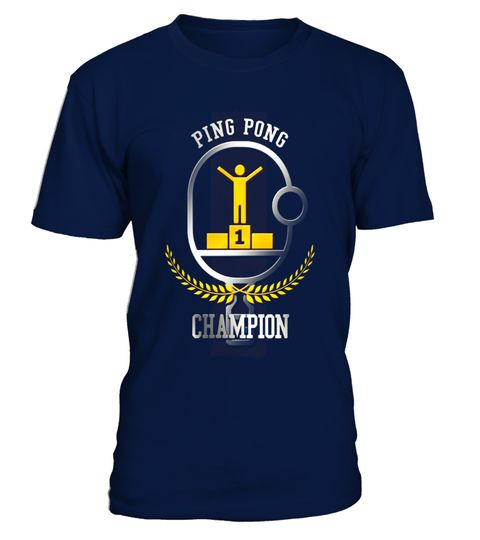 Ping Pong Champion Funny T-Shirt Table Tennis Player Gift