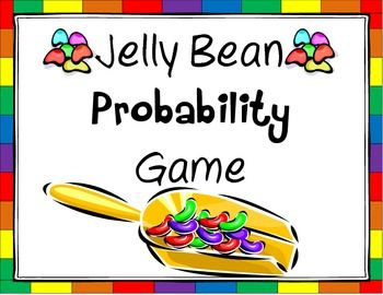 Jelly Bean Probability Game...great to introduce kids to the concept of making predictions based on probability and testing it out!