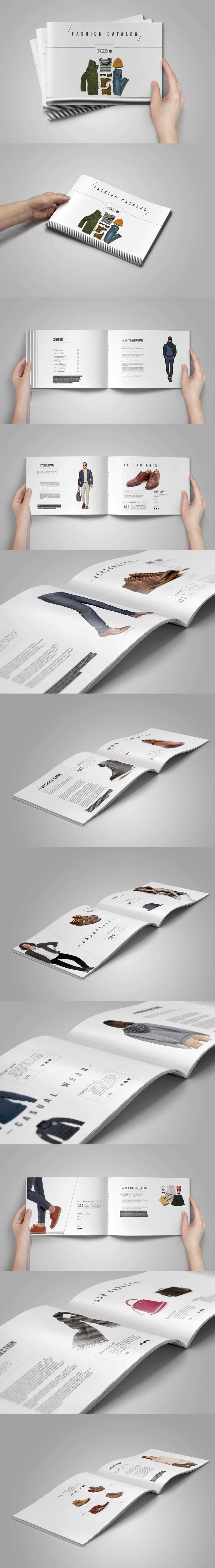 Horizontal Product Catalog Template InDesign INDD - A4 and US Letter Size