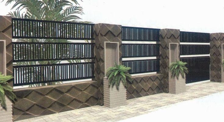 70 Desain  Pagar  Rumah Minimalis Kayu dan Besi  Pagar