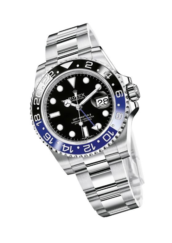 The bezel on the Rolex GMT-Master II is fashioned from Cerachrom – Rolex's version of ceramic, and though the bezel is two colors, it is a single piece. The bezel is formed as a single piece, and in this instance, the whole thing starts out blue. Black is added to half of the bezel early in the production process when the ceramic is still permeable.