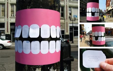 I'm always down for clever guerrilla advertising
