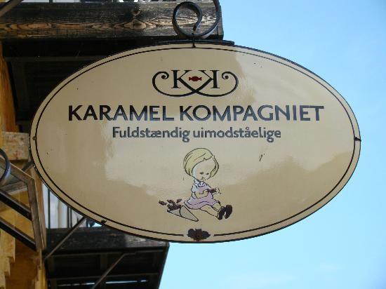 Gudhjem, Bornholm, Denmark: a caramel maker