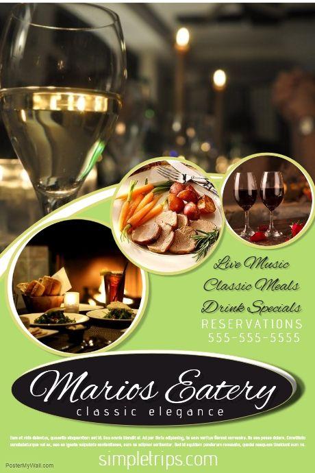Best restaurant poster ideas on pinterest