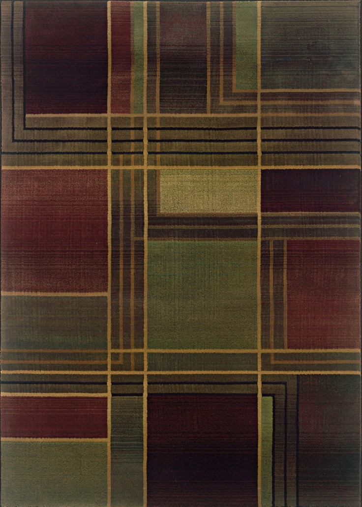 Sphinx By Oriental Weavers Kharma Ii Collection 1330G Contemporary Green Rug