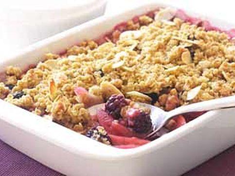 Hairy Bikers' apple and blackberry crumble recipe - goodtoknow