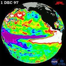 1997-1998 El Niño. White is hot. Donate to Wikipedia, the free encyclopedia.
