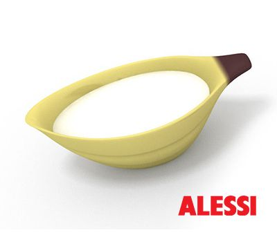 Banana Milk Bowl - milk jug, Stefano Giovannoni, 2008 #alessi #design