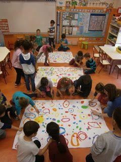 """LA CLASE DE MIREN: mis experiencias en el aula: TALLER DE GRAFISMO: """"CAMPO DE FLORES"""" HERVÉ TULLET (FASE 2)"""