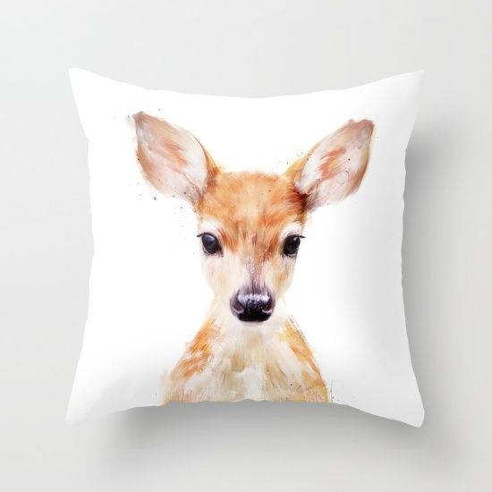 Buy Little Deer Throw Pillow by Amy Hamilton. Worldwide shipping available at Society6.com. Just one of millions of high quality products available.