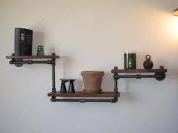 Industrial pipe shelving ideas