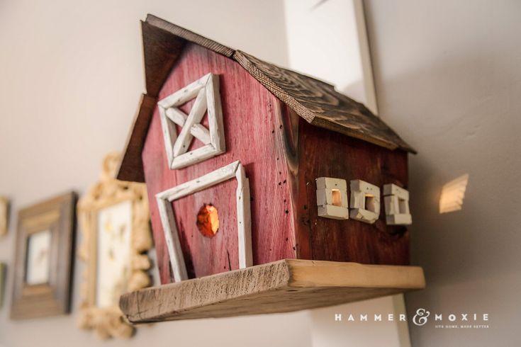 Charming barn-style birdhouse nightlight for nursery | Hammer & Moxie