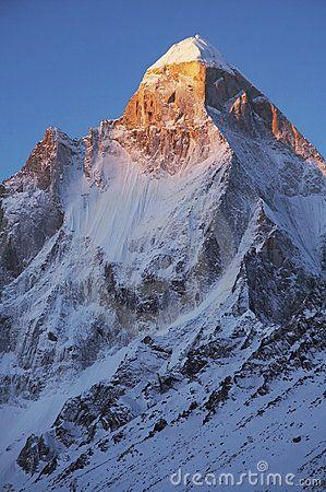 Shivling Peak at sunrise, Gangotri, Indian Himalaya.