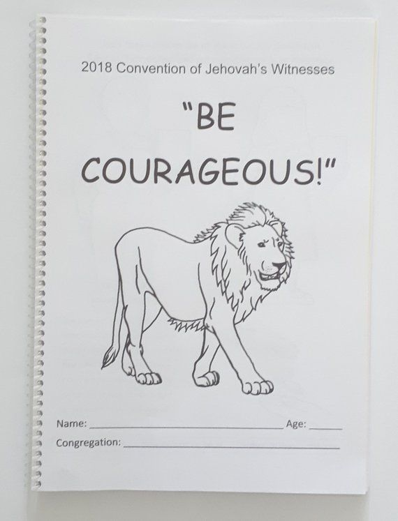 6-13yo Regional Convention 2018 Be Courageous JW Notebook