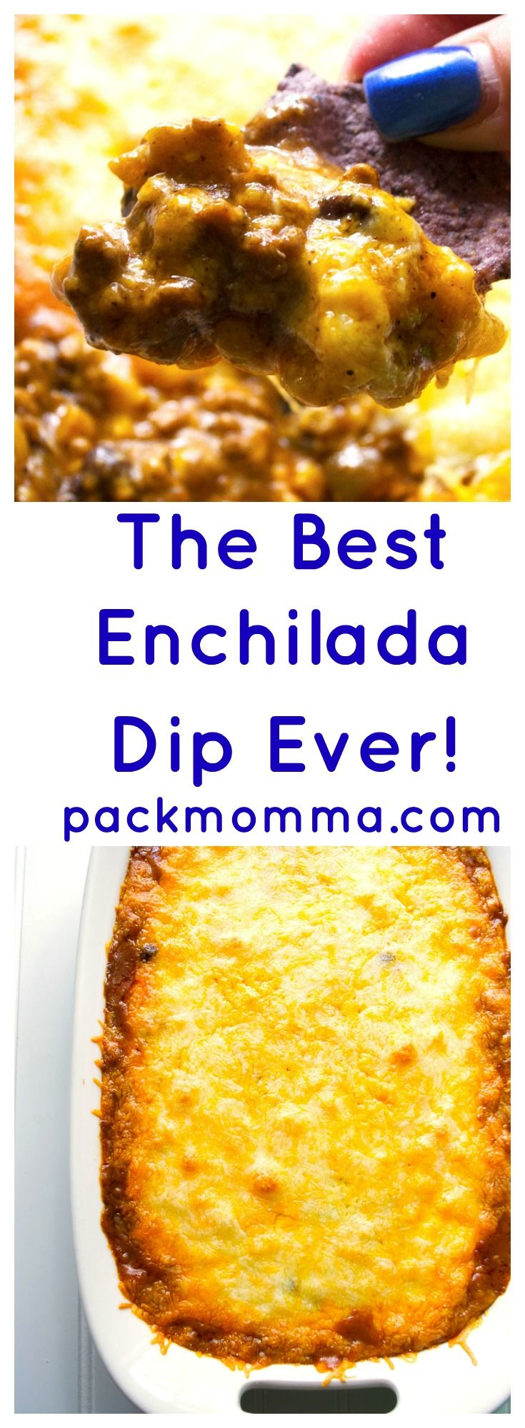 Kick up your tailgating with The Best Enchilada Dip Ever. Spicy and delicious this is the perfect dip to cheer your teams on to victory.