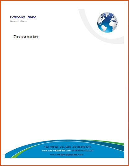 word letterhead template business free templates for