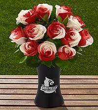 The FTD® University of Louisville® Cardinals™ Rose Bouquet - 12 Stems