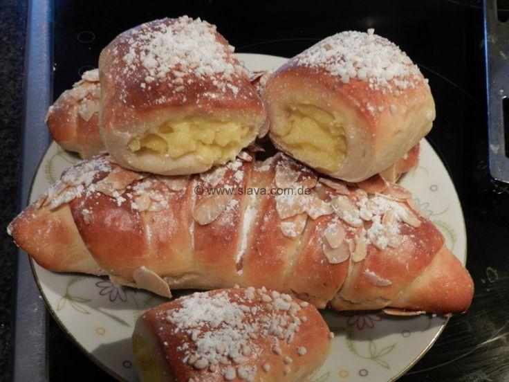 schnelle softe Pudding-Hörnchen « kochen  backen leicht gemacht mit Sc... - http://back-dein-brot-selber.de/brot-selber-backen-rezepte/schnelle-softe-pudding-hrnchen-kochen-backen-leicht-gemacht-mit-sc/