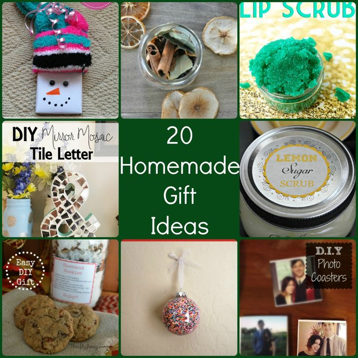 20 Homemade Christmas Gifts Is A Great Round Up Of Diy