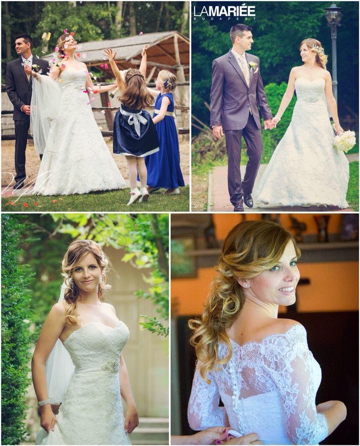 Basma esküvői ruha - 2015 Pronovias kollekció - Tímea menyasszony -La Mariée Budapest esküvői ruhaszalon http://lamariee.hu/eskuvoi-ruha/pronovias/basma