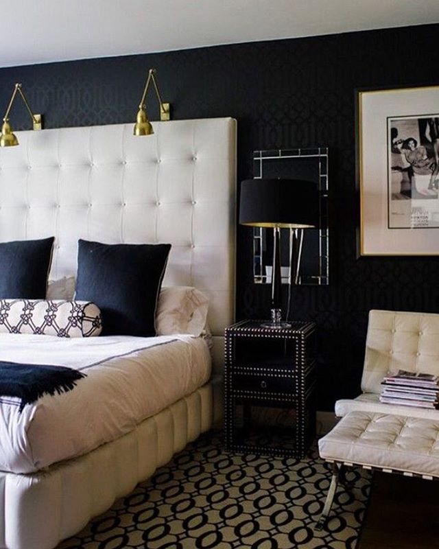 Black U0026 White Bedroom With A Touch Of Gold @KortenStEiN · Black White  BedroomsDesign ...