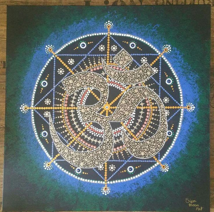 Dotting mandala OHM Teken Siem Moon Art