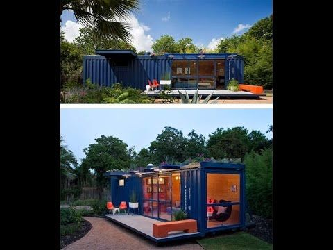 Container Guest House. Shipping containers turned into homes