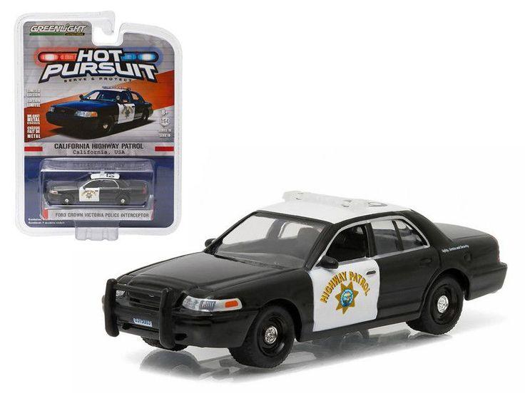 2008 Ford Crown Victoria Police Interceptor California Highway Patrol (CHP) 1/64 Diecast Model Car by Greenlight