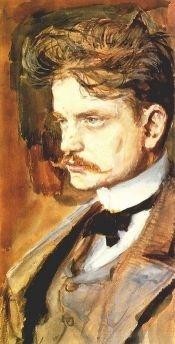 Jean Sibelius (1894) - detail from a watercolour by Akseli Gallen-Kallela