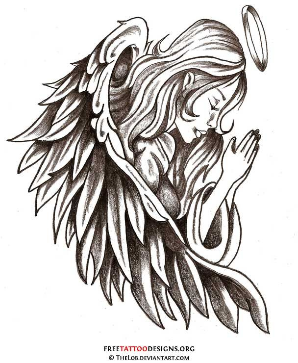 angel tattoo | ... angel tattoo is like having your guardian angel with you all the time
