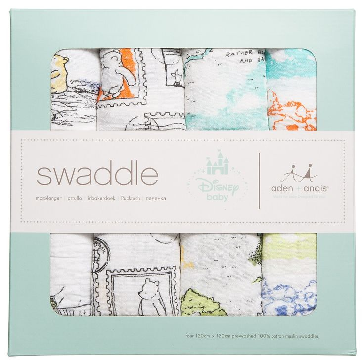 Aden & Anais - 'Winnie The Pooh' Muslin Swaddle Blankets (Pack of 4) | Childrensalon