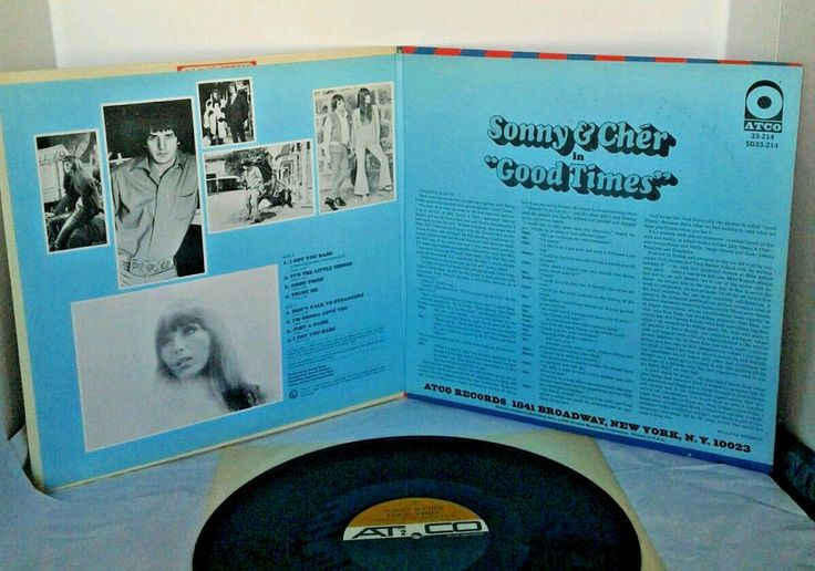 Sonny & Cher Bono GOOD TIMES Soundtrack Columbia ATCO Mono 33-214