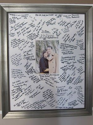 """Good idea... did this for our daughters for high school and college graduations but just """"framed them"""" with school-colored poster board so they're easy store when they are ready to put them away."""