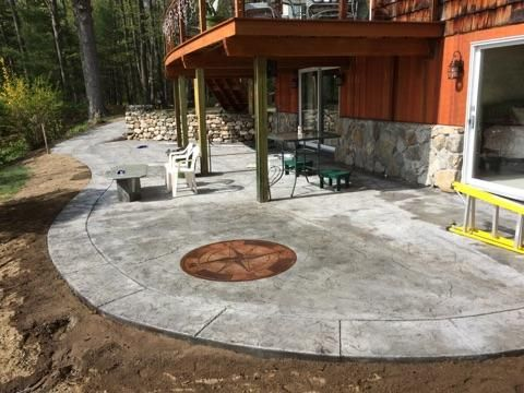 This Beautiful Stamped Concrete Patio With Custom Navigation Star Was  Completed Recently In Yarmouth! Call