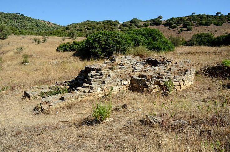 Sardinia, Italy. Funtana Coberta Sacred well: external structure - Ballao