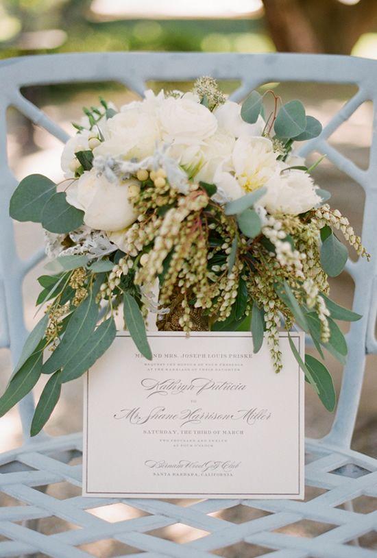 elegant wedding invite