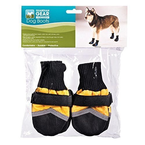 Guardian Gear Oxford Boots for Dogs, Large, Yellow